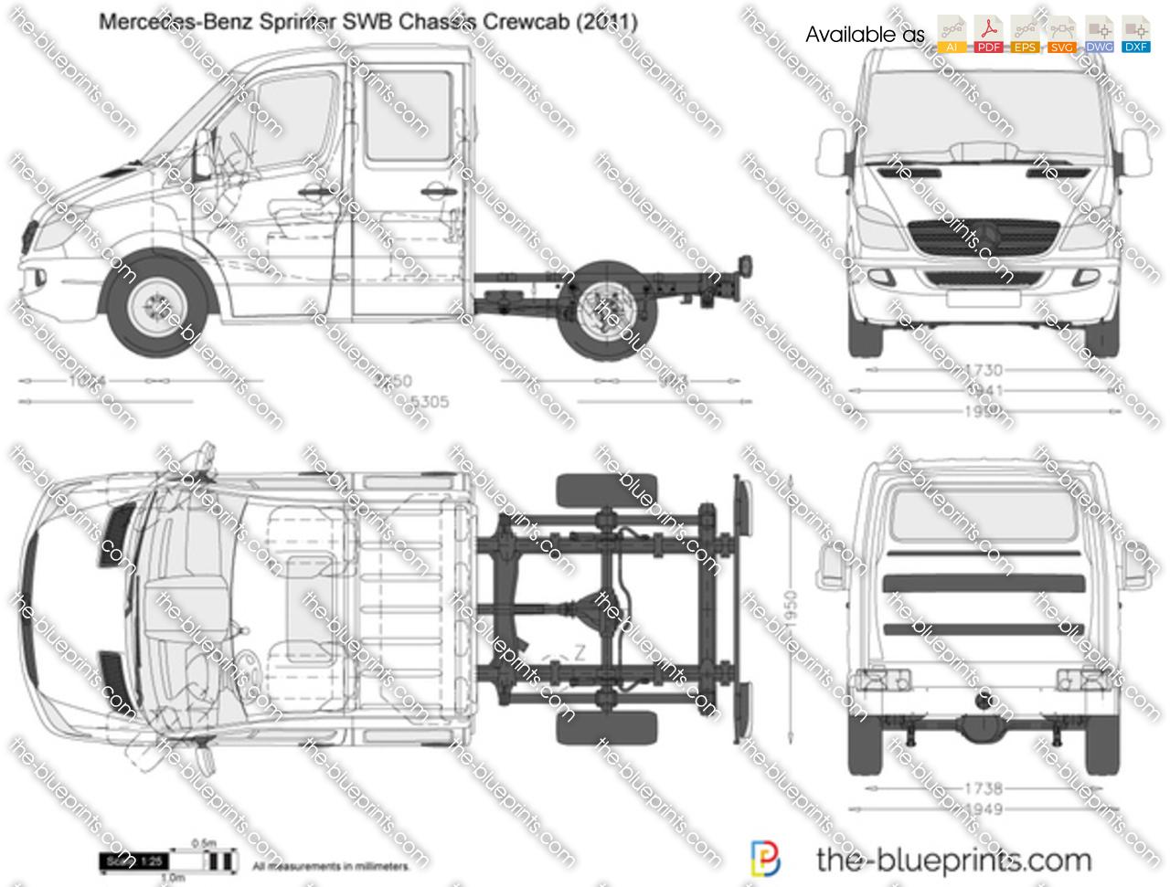 Mercedes-Benz Sprinter SWB Chassis Crewcab