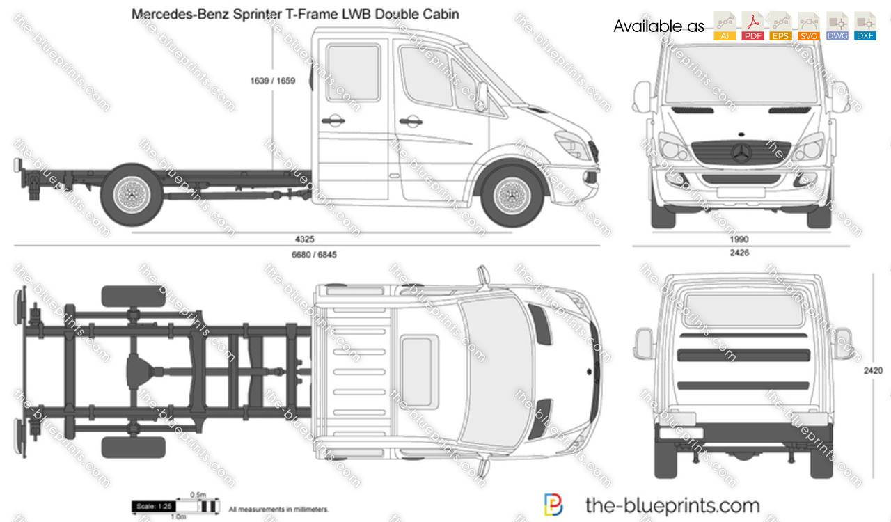 Mercedes-Benz Sprinter T-Frame LWB Double Cabin