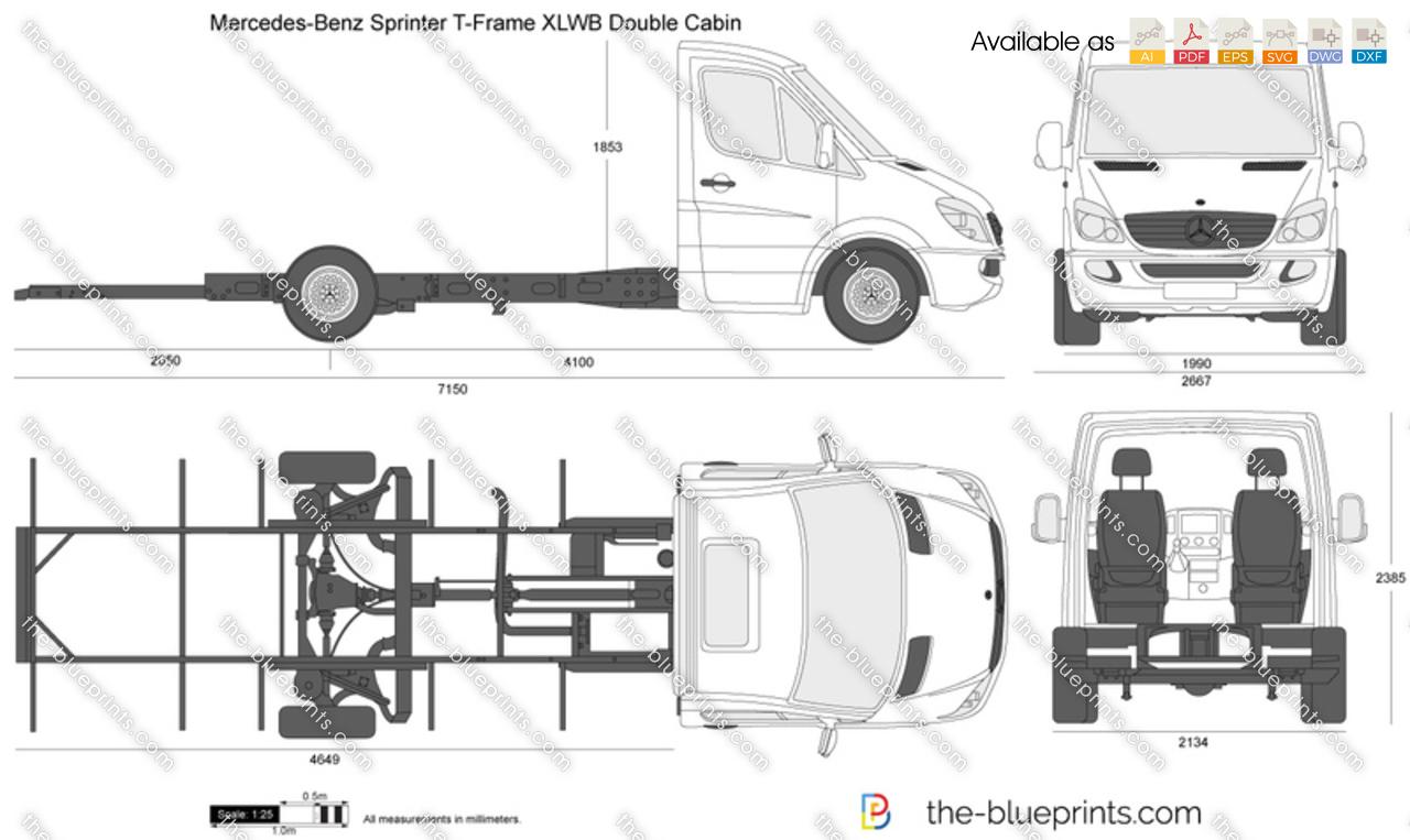 Mercedes-Benz Sprinter T-Frame XLWB Double Cabin