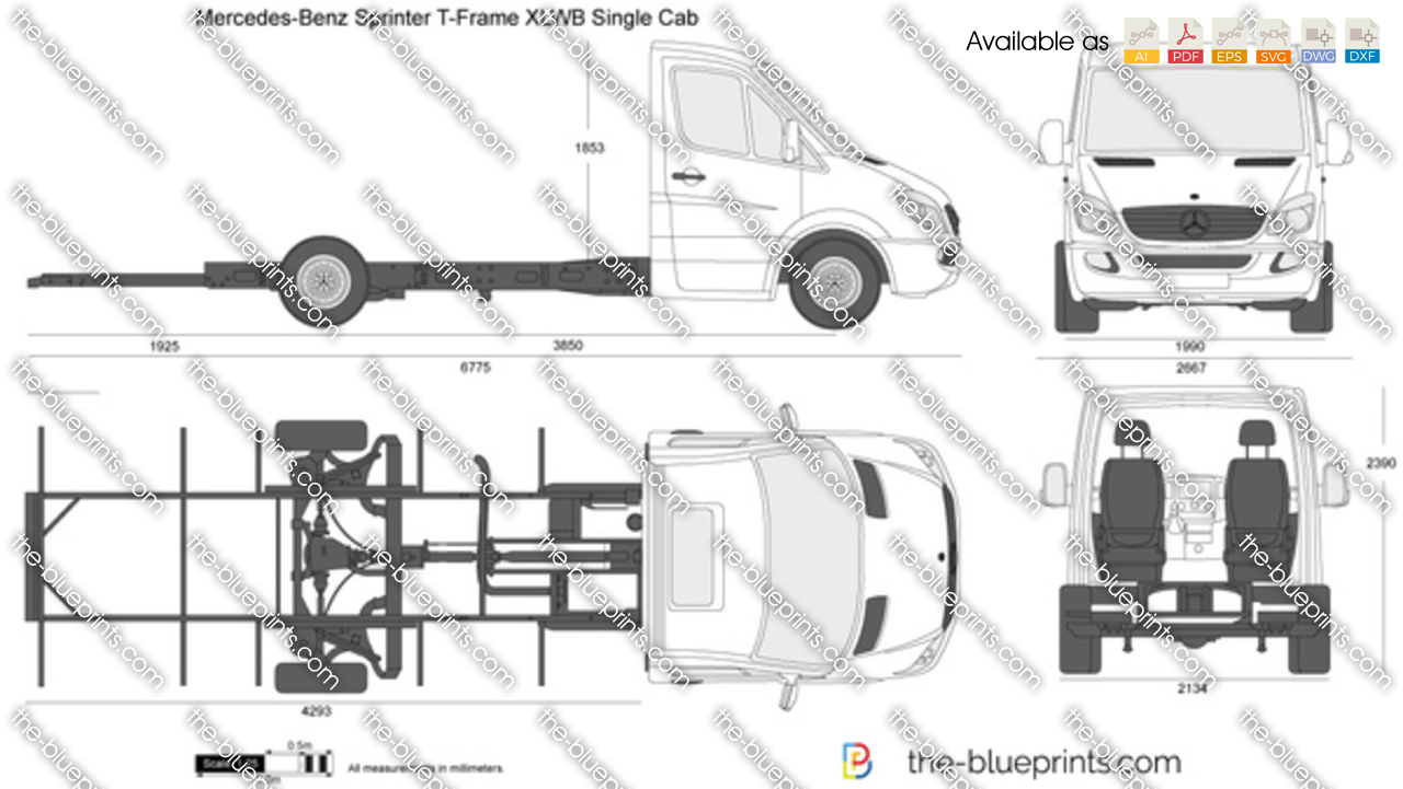 Mercedes-Benz Sprinter T-Frame XLWB Single Cab