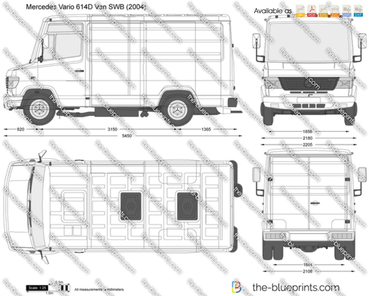 Mercedes-Benz Vario 614D Van SWB