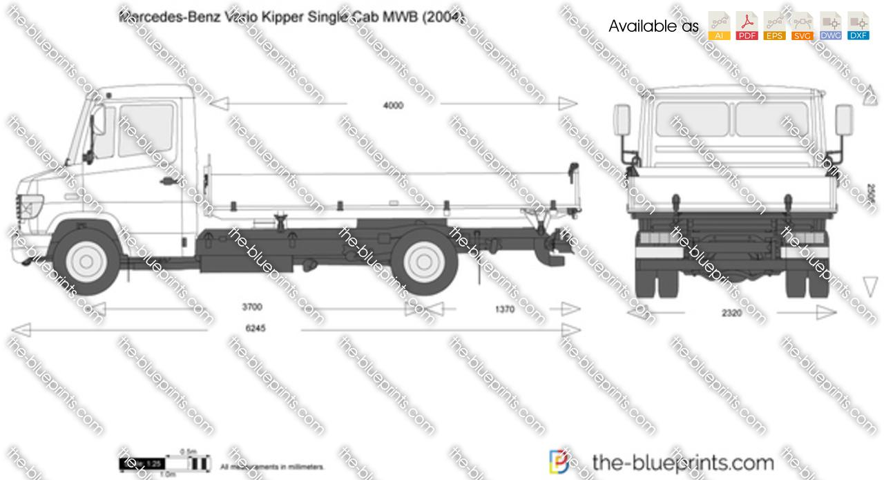 Mercedes-Benz Vario Kipper Single Cab MWB