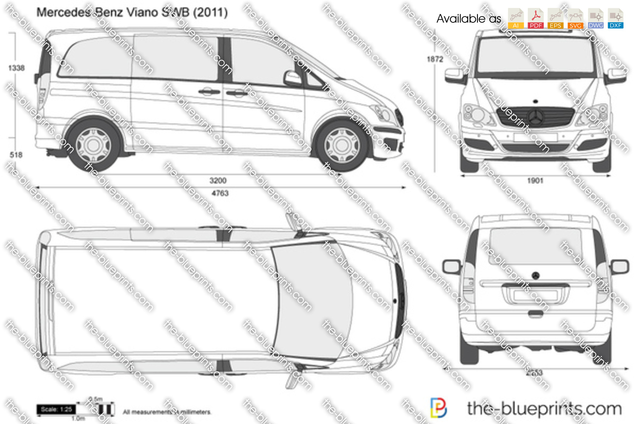 the vector drawing mercedes benz viano swb. Black Bedroom Furniture Sets. Home Design Ideas