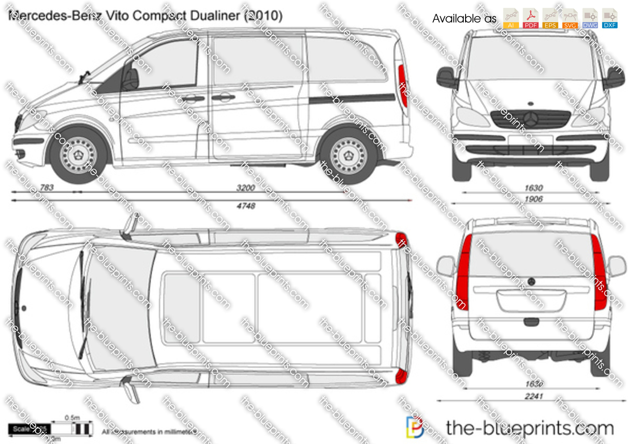the vector drawing mercedes benz vito compact dualiner. Black Bedroom Furniture Sets. Home Design Ideas