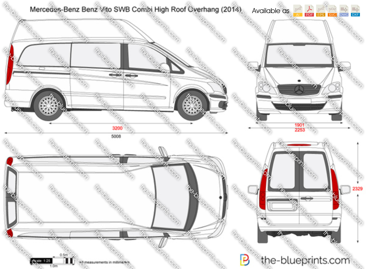Mercedes-Benz Vito SWB Combi High Roof Overhang