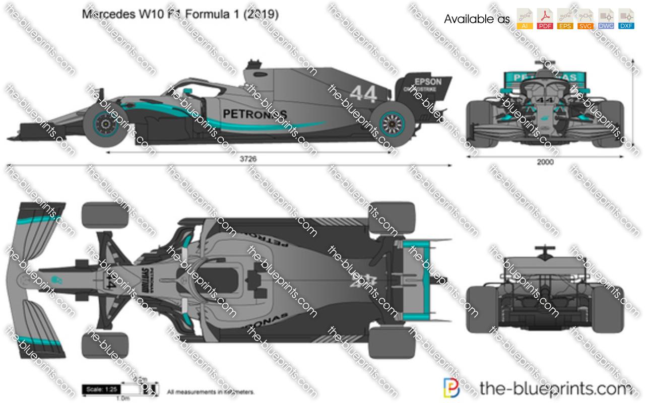 Mercedes W10 F1 Formula 1