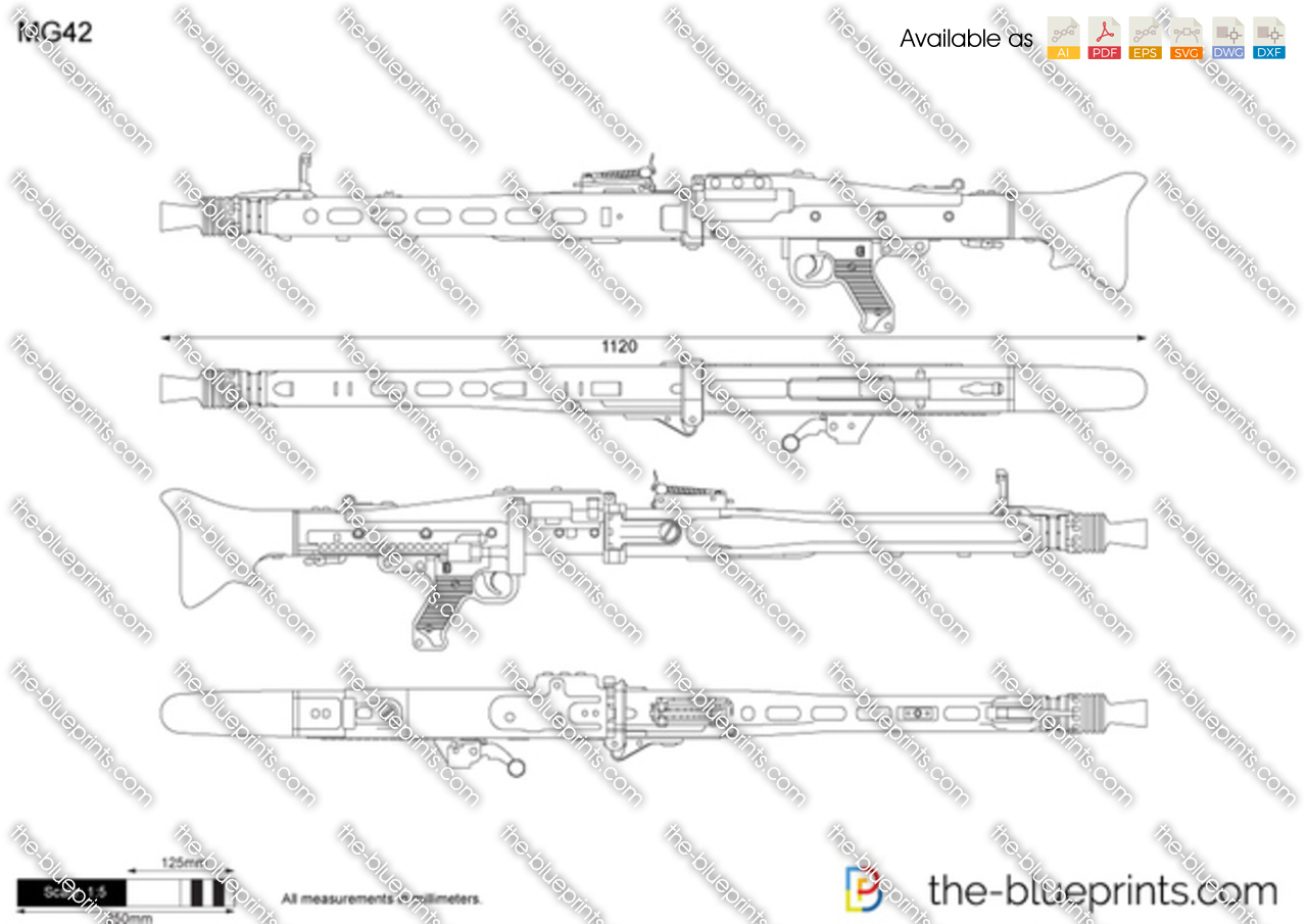The blueprints com vector drawing mg 42