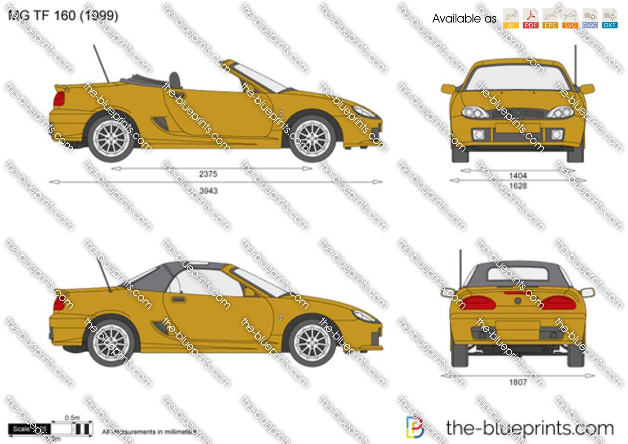 The Blueprints Com Vector Drawing Mg Tf 160