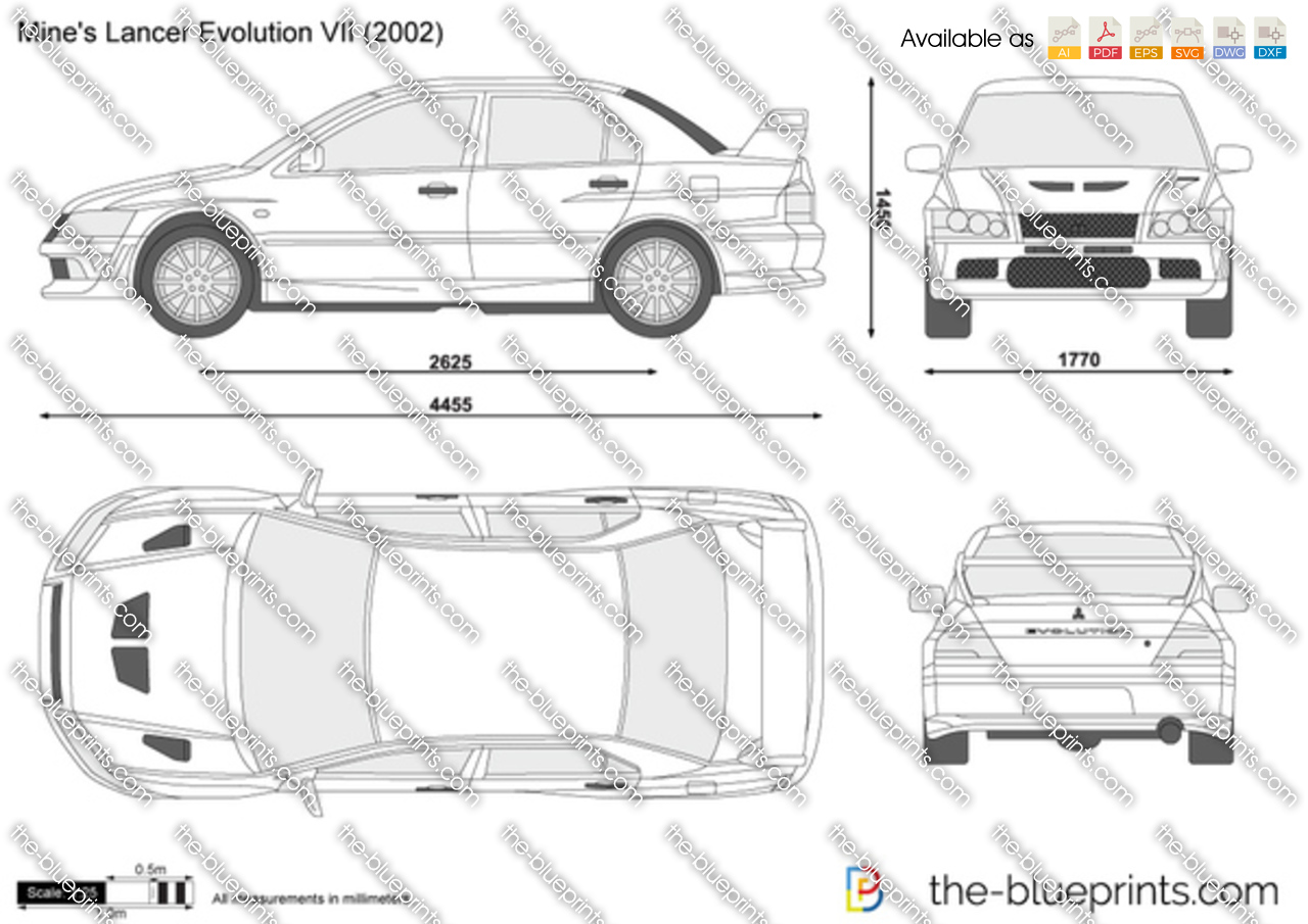 Blueprints > Cars > Mitsubishi > Mitsubishi Lancer Evolution VII