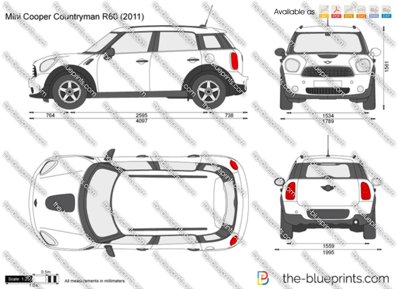 the vector drawing mini cooper countryman r60. Black Bedroom Furniture Sets. Home Design Ideas