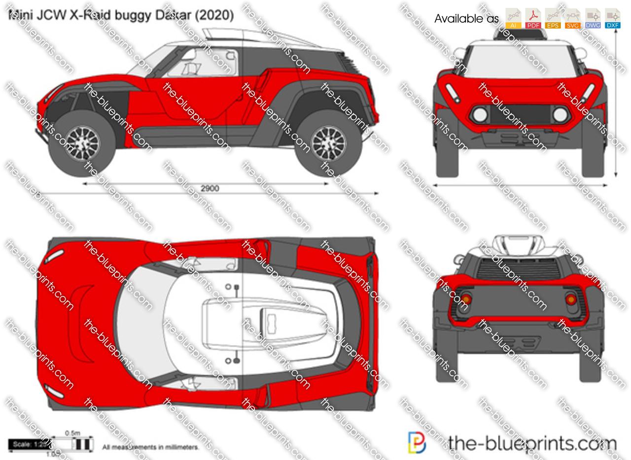 Mini JCW X-Raid buggy Dakar