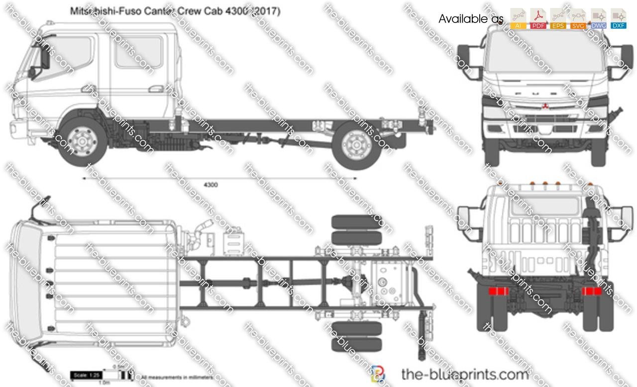 Mitsubishi-Fuso Canter Crew Cab 4300