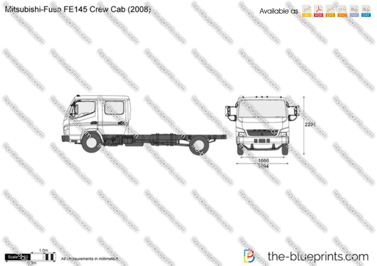 Mitsubishi-Fuso FE145 Crew Cab