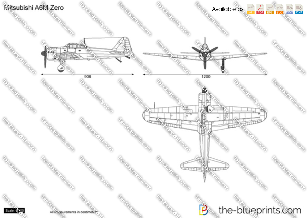 The Vector Drawing Mitsubishi A6m Zero