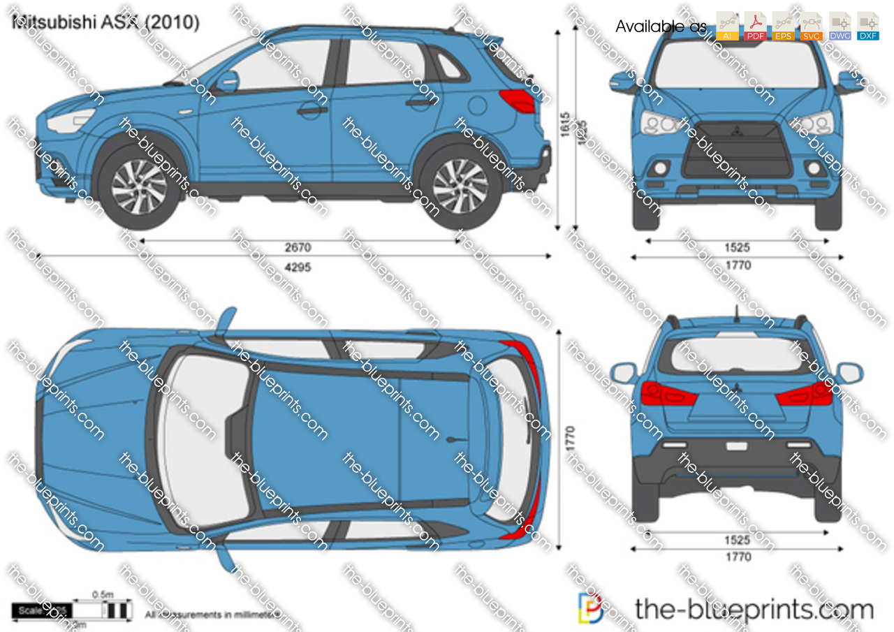 The Blueprints Com Vector Drawing Mitsubishi Asx