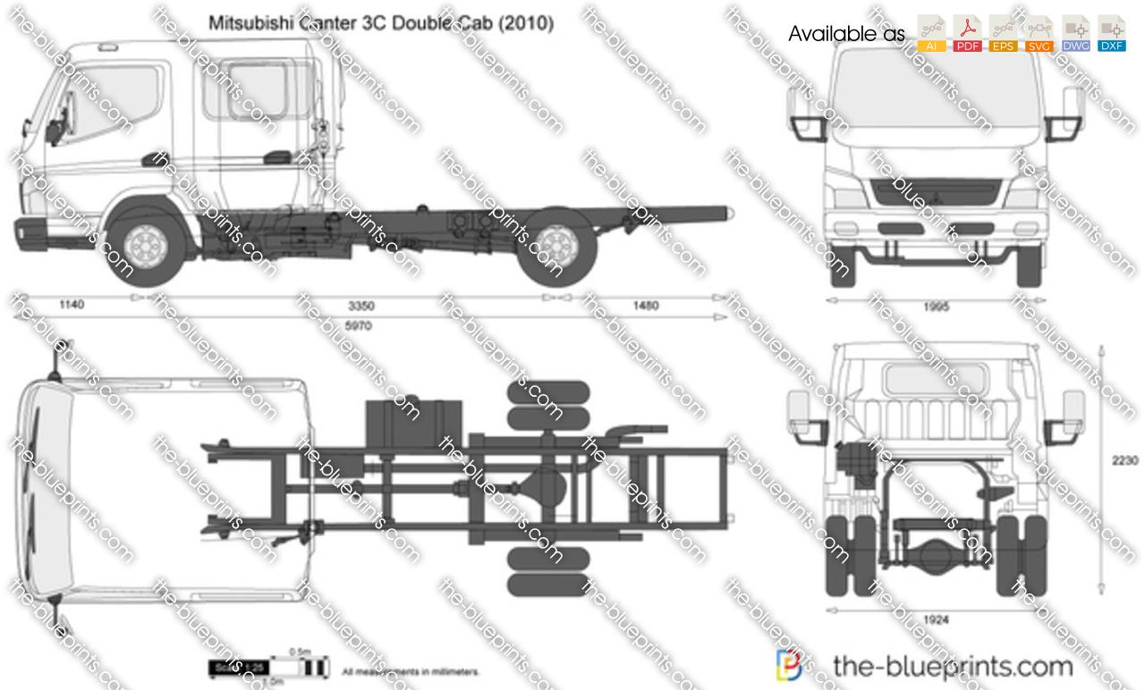 Mitsubishi Canter 3C Double Cab 2012