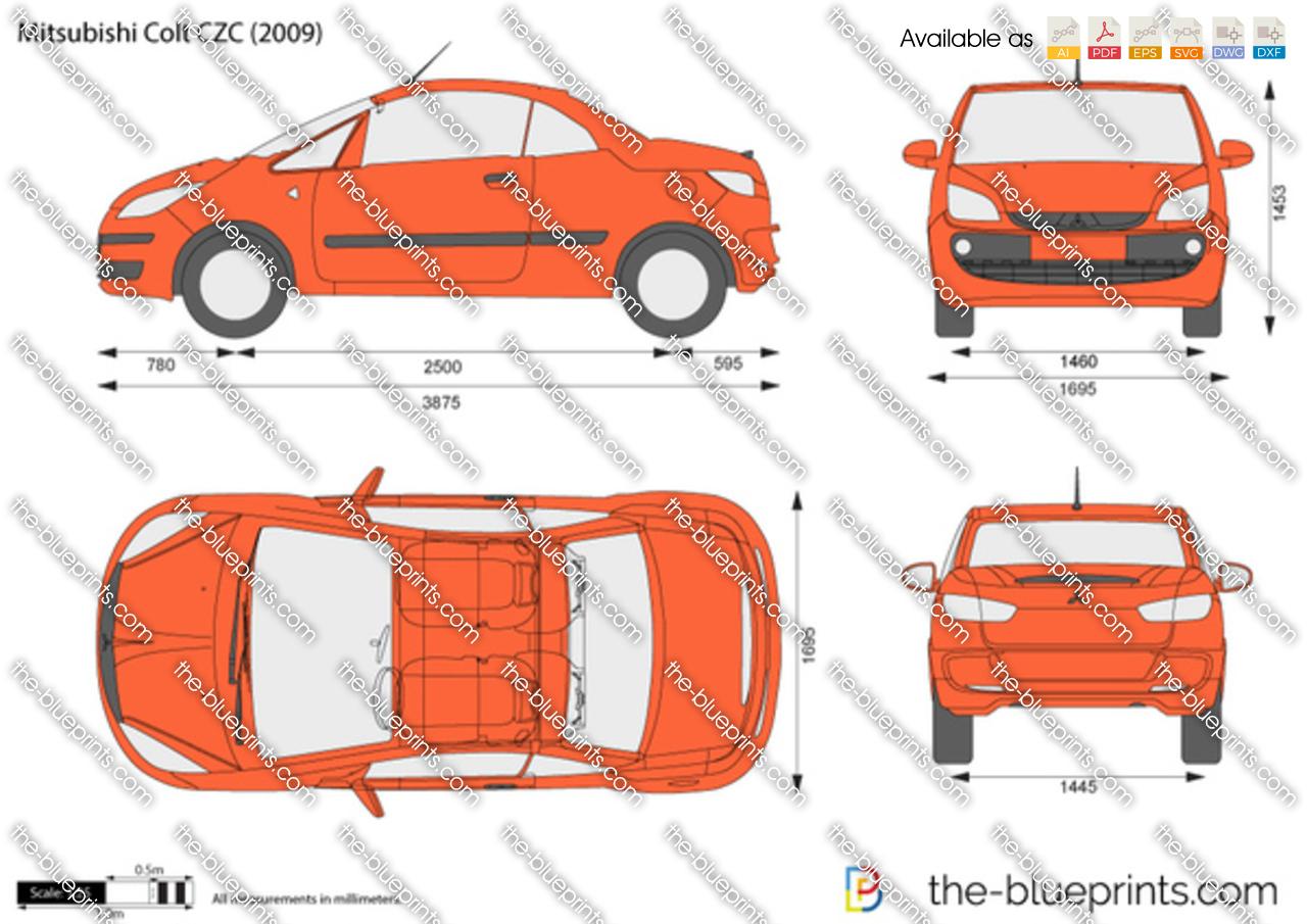 The Blueprints Com Vector Drawing Mitsubishi Colt Czc