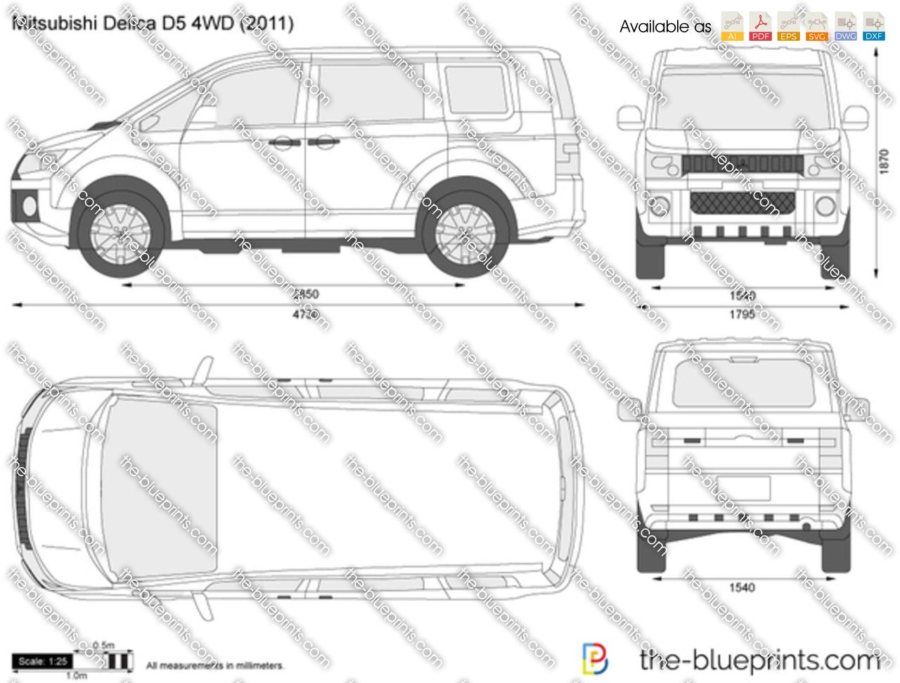 Mitsubishi Delica D5 4WD