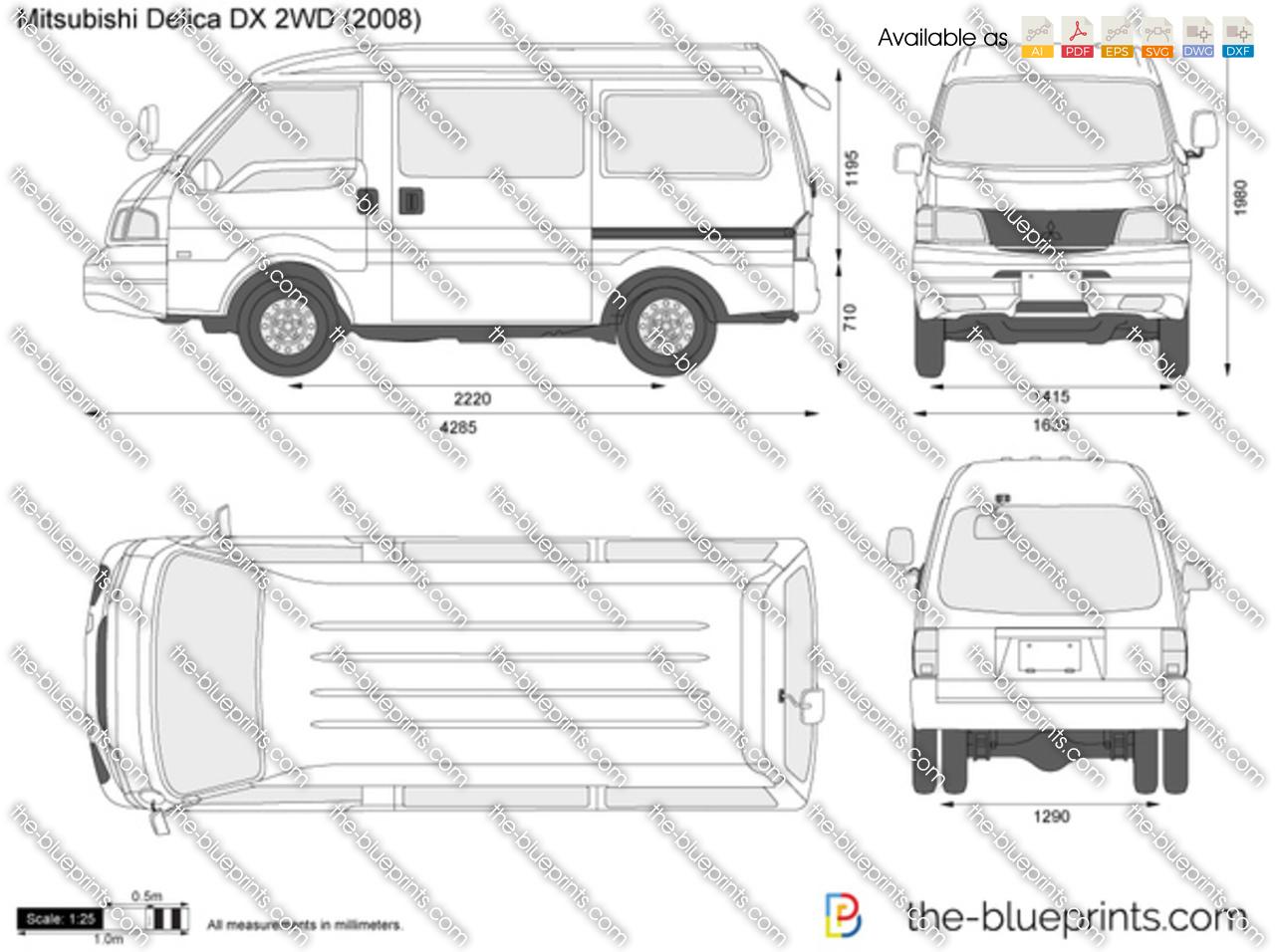 Mitsubishi Delica DX 2WD 1987