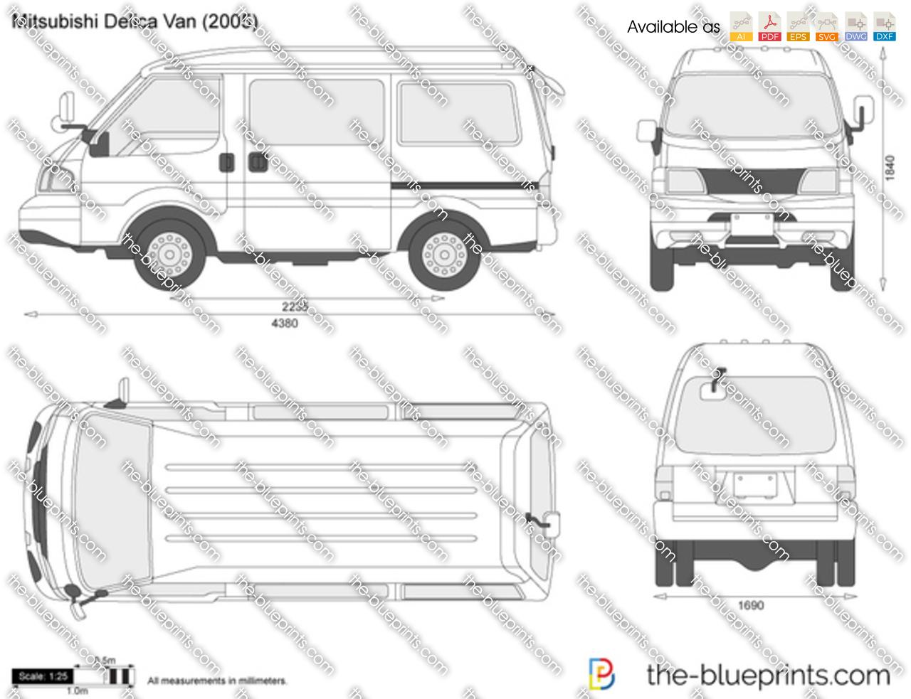 Mitsubishi Delica Van 2000
