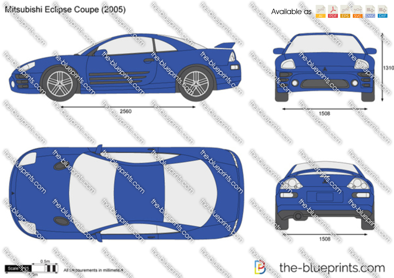 The blueprints com vector drawing mitsubishi eclipse coupe