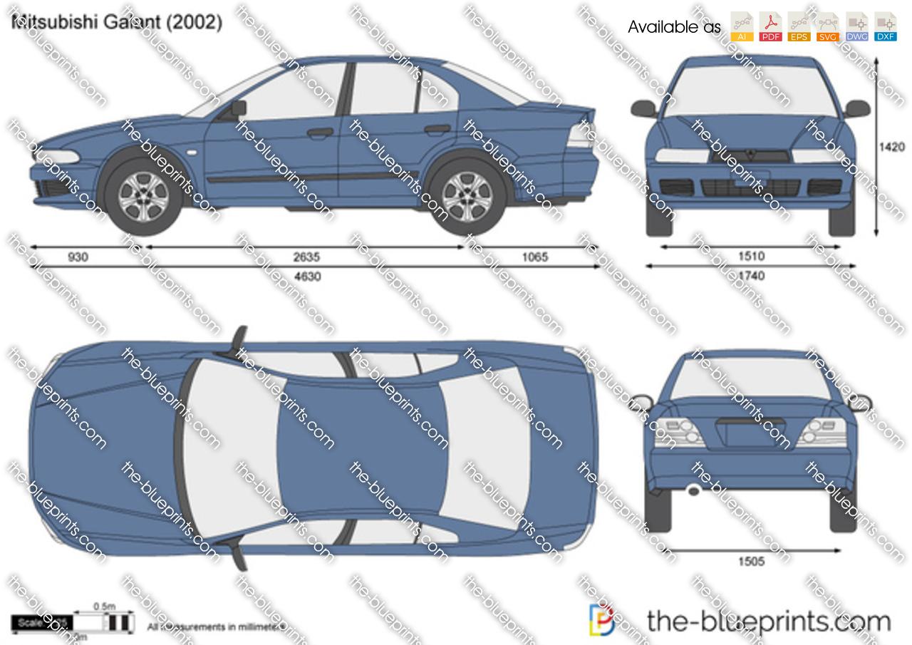 Mitsubishi Galant Vector Drawing