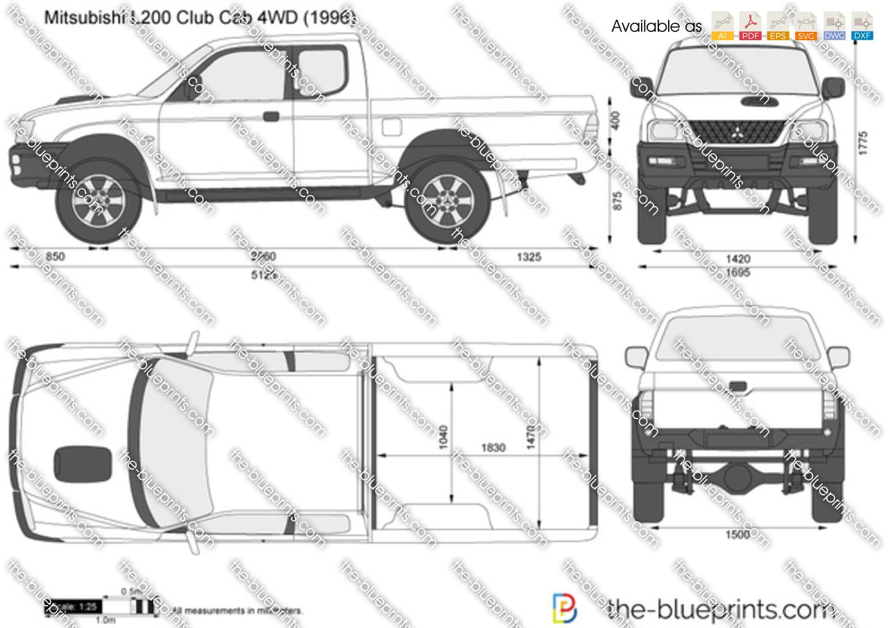 Mitsubishi L200 Club Cab 4WD 2000