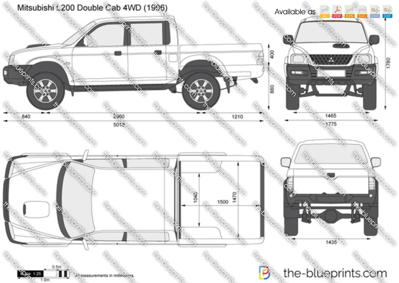 The Blueprints Com Vector Drawing Mitsubishi L200