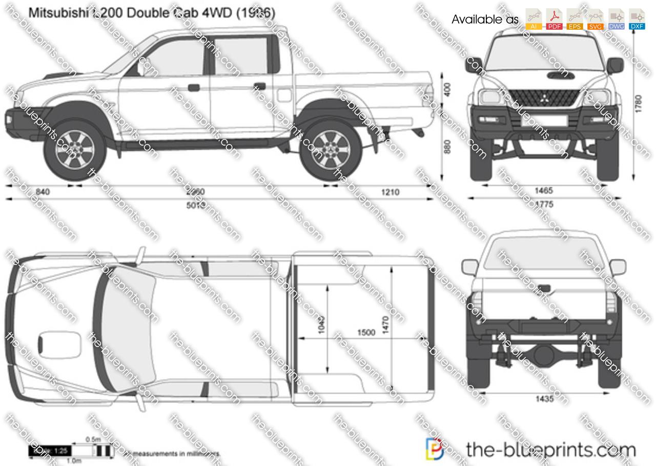 Mitsubishi L200 Double Cab 4WD 2000