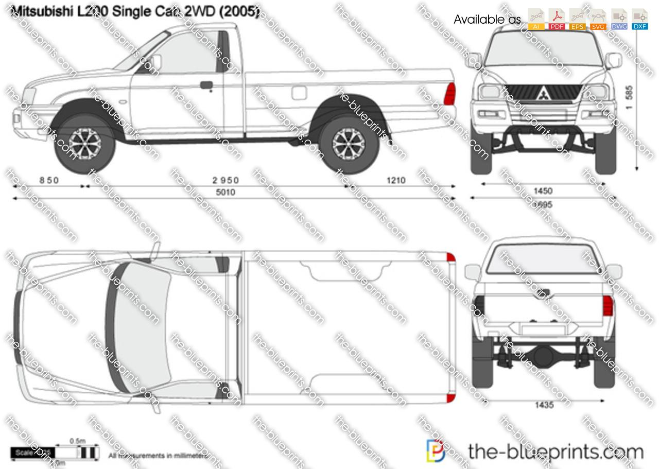 Mitsubishi L200 Single Cab 2WD 2007