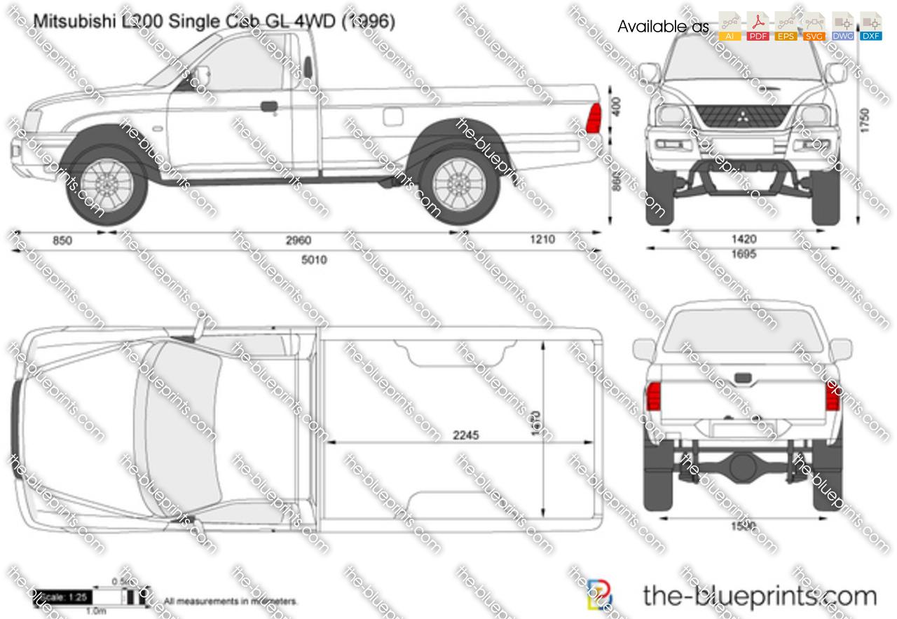 Mitsubishi L200 Single Cab GL 4WD 2000