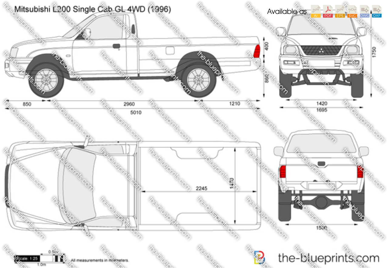 Mitsubishi L200 Single Cab GL 4WD 2001