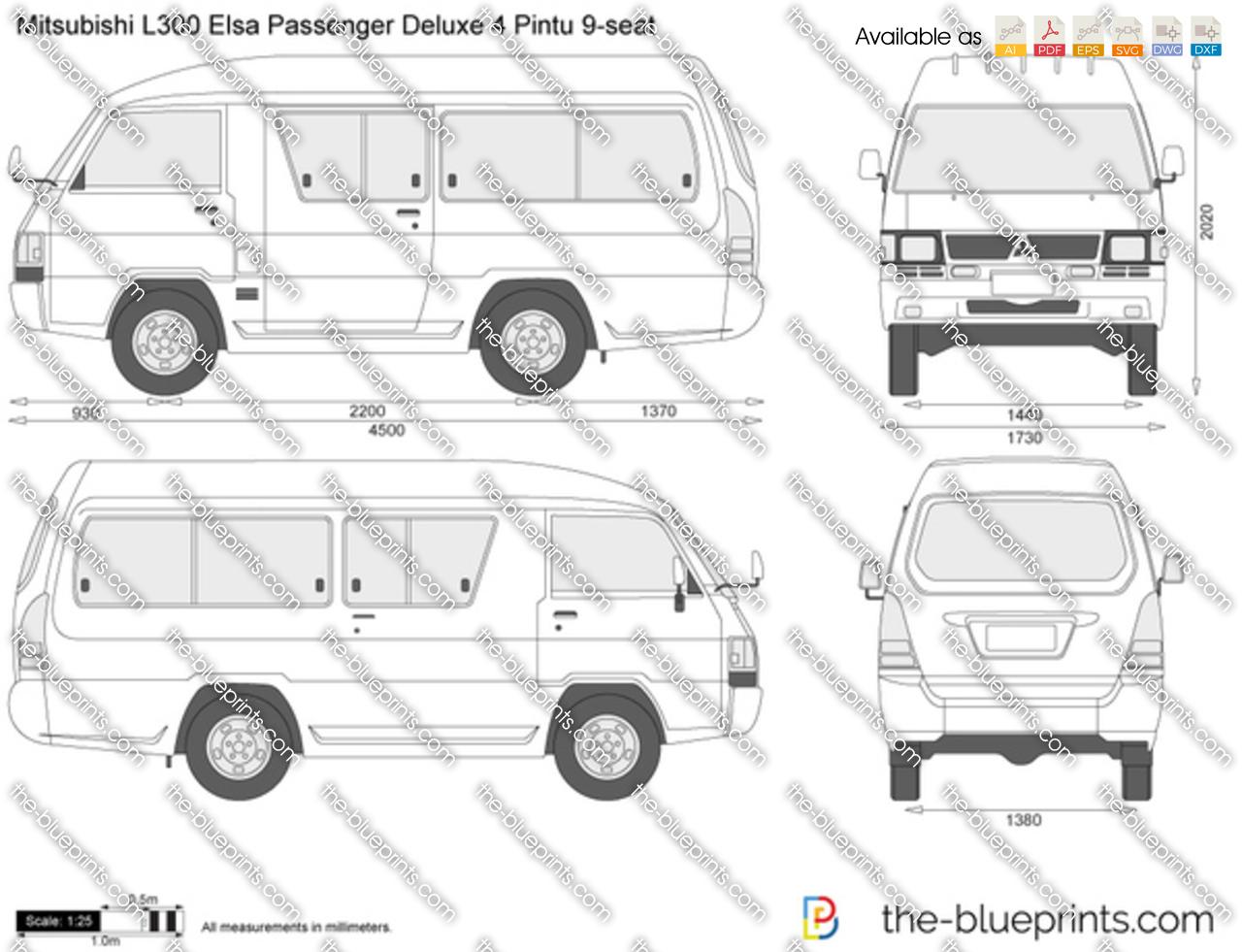 Mitsubishi L300 Elsa Passenger Deluxe 4 Pintu 9-seat