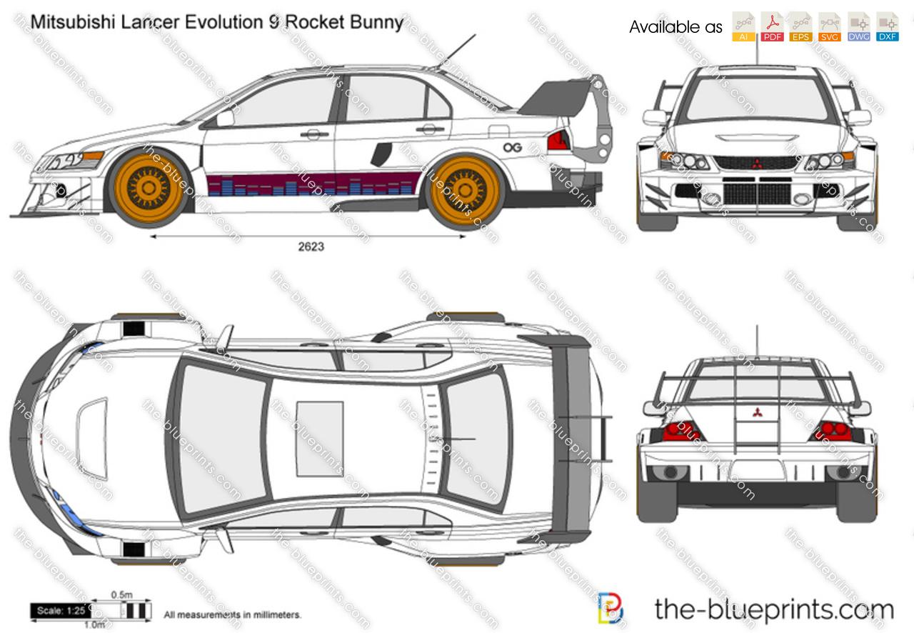Mitsubishi Lancer Evolution 9 Rocket Bunny