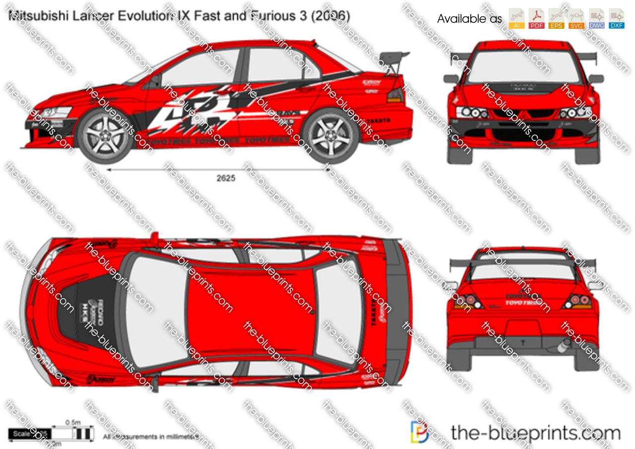 Mitsubishi Lancer Evolution IX Fast and Furious 3