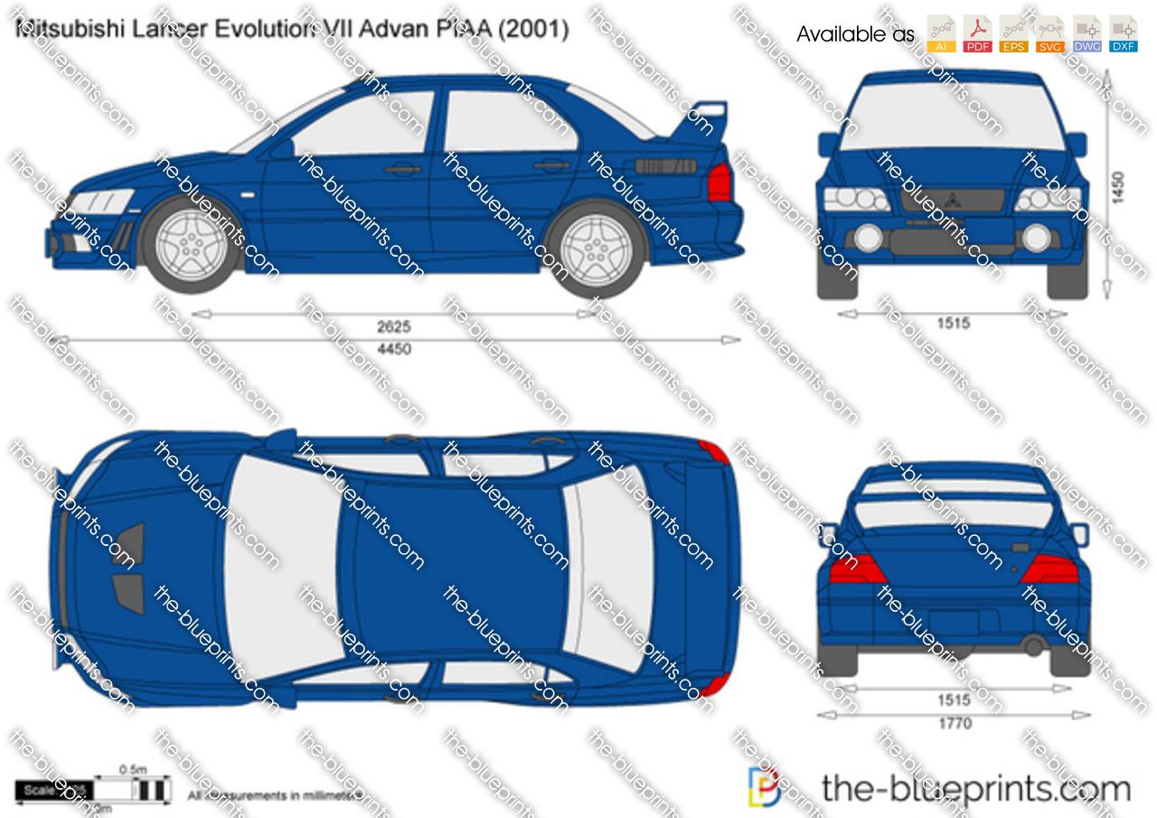Mitsubishi Lancer Evolution VII Advan PIAA 2003