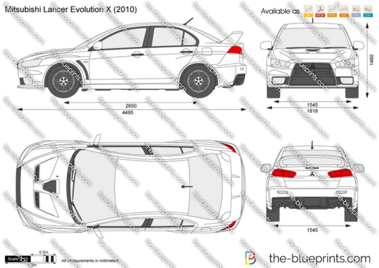 Blueprints > Cars > Mitsubishi > Mitsubishi Lancer Evolution X