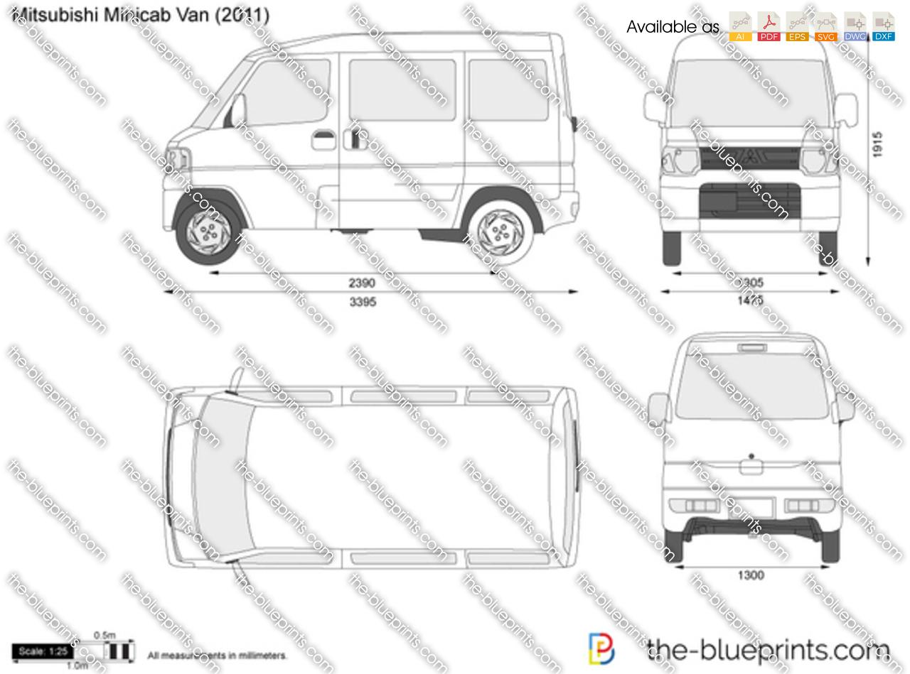 Mitsubishi Minicab Van 2010