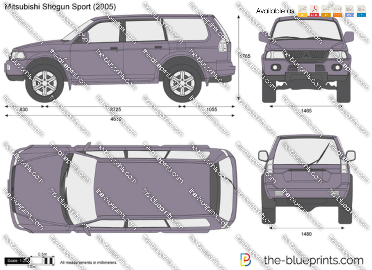Mitsubishi Shogun Sport vector drawing