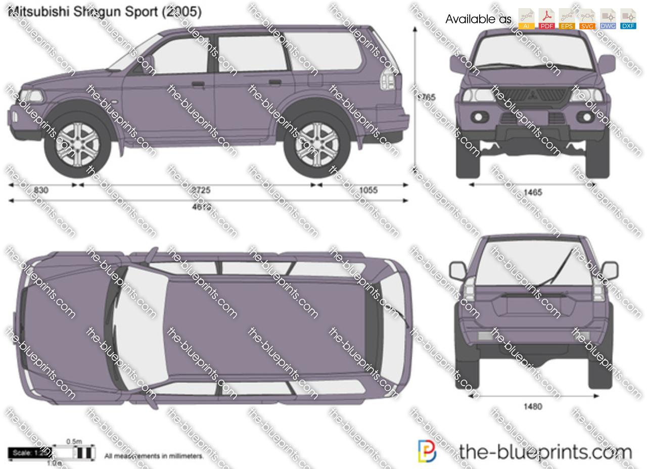 The Blueprints Com Vector Drawing Mitsubishi Shogun Sport