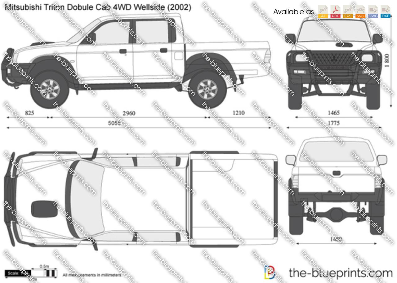Mitsubishi Triton Double Cab 4WD Wellside 2004
