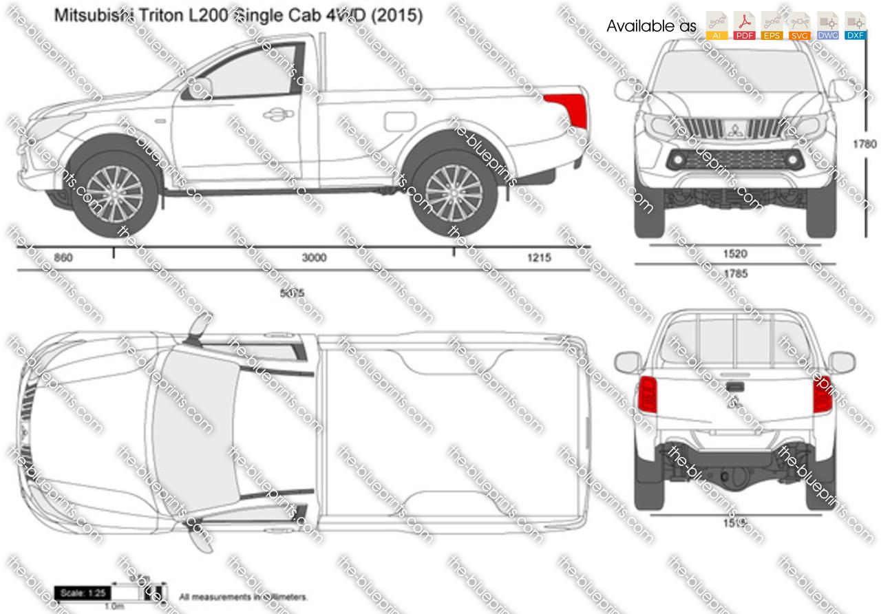 Mitsubishi Triton Single Cab 4WD 2017