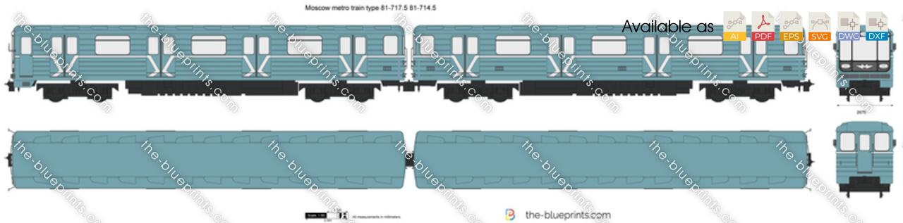 Moscow metro train type 81-717.5 81-714.5