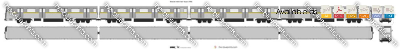 Moscow metro train Yauza