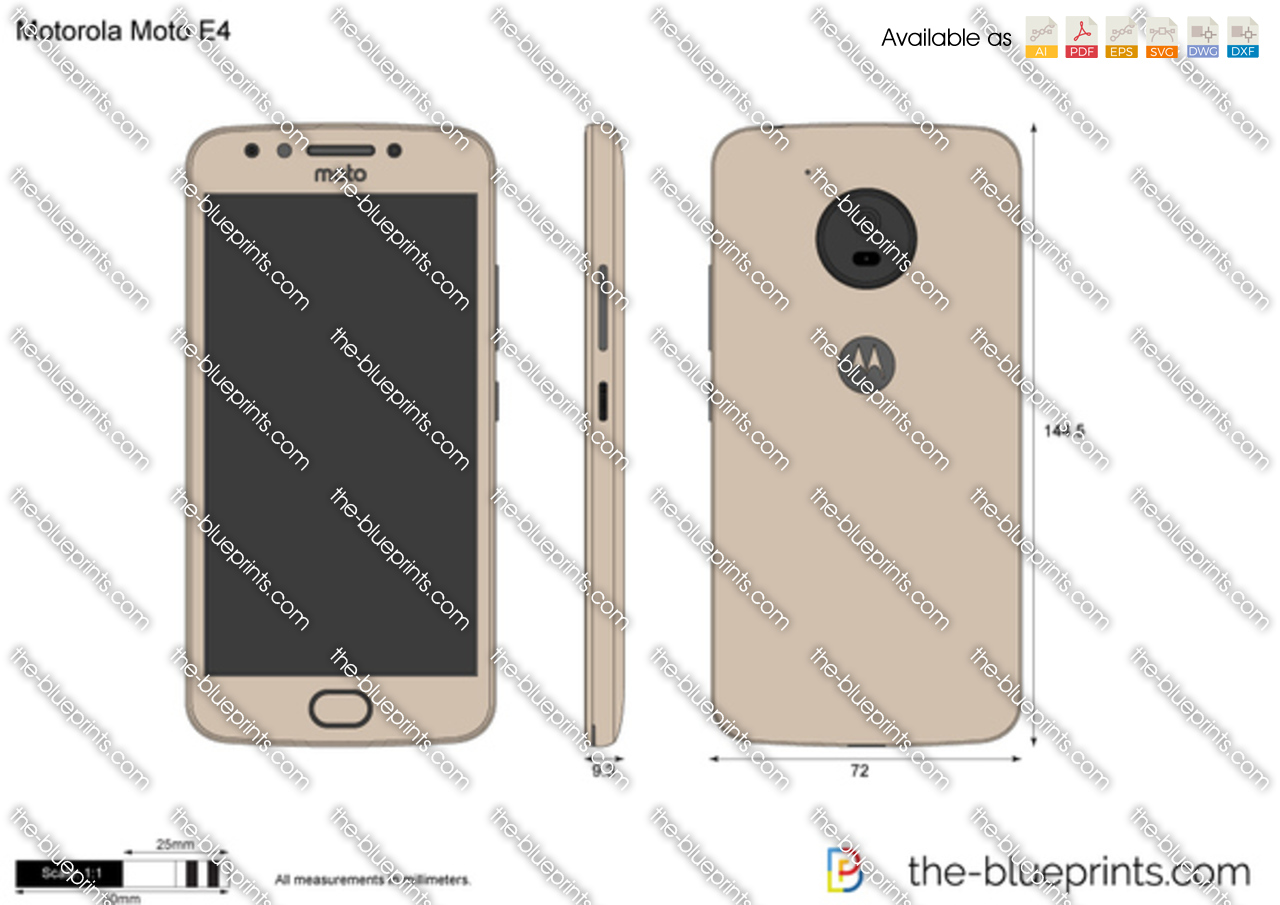 Motorola Moto E4 vector drawing