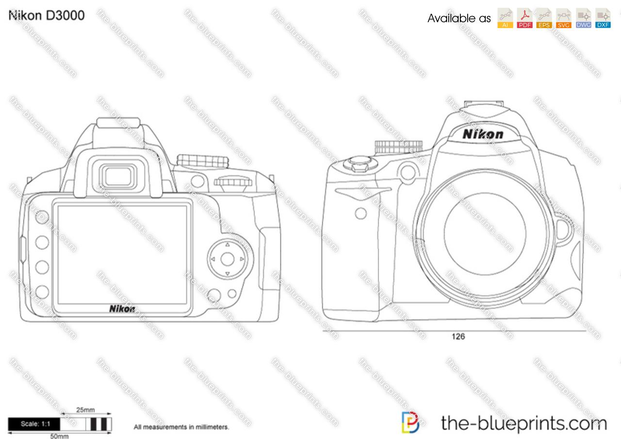Nikon d3000 vector drawing model years baditri Images