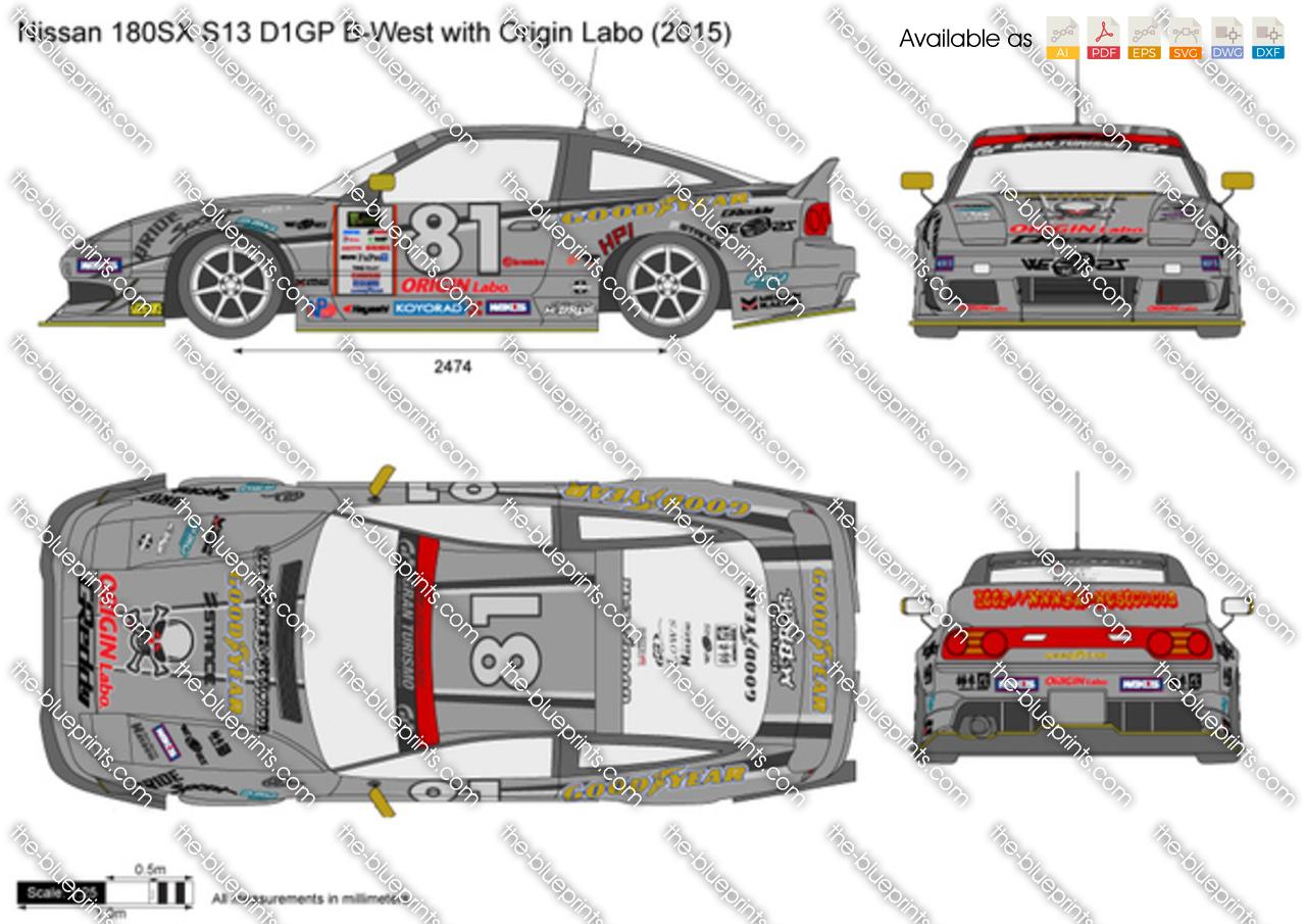 Nissan 180SX S13 D1GP B-West with Origin Labo