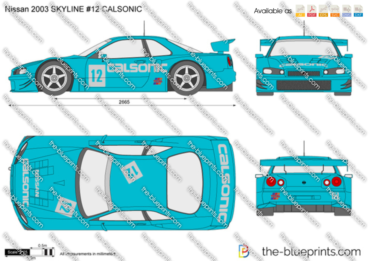 Nissan 2003 SKYLINE #12 CALSONIC
