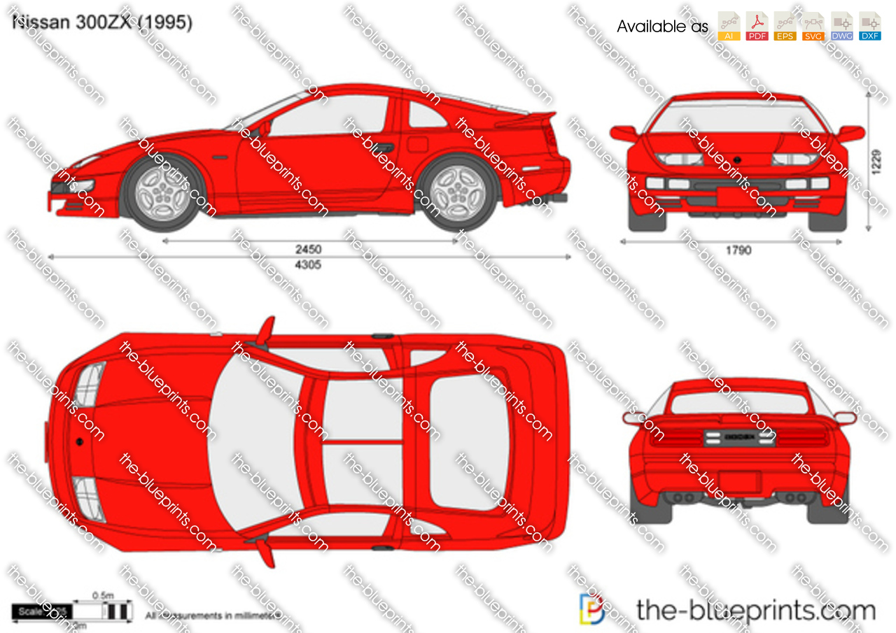 Nissan 300ZX vector drawing