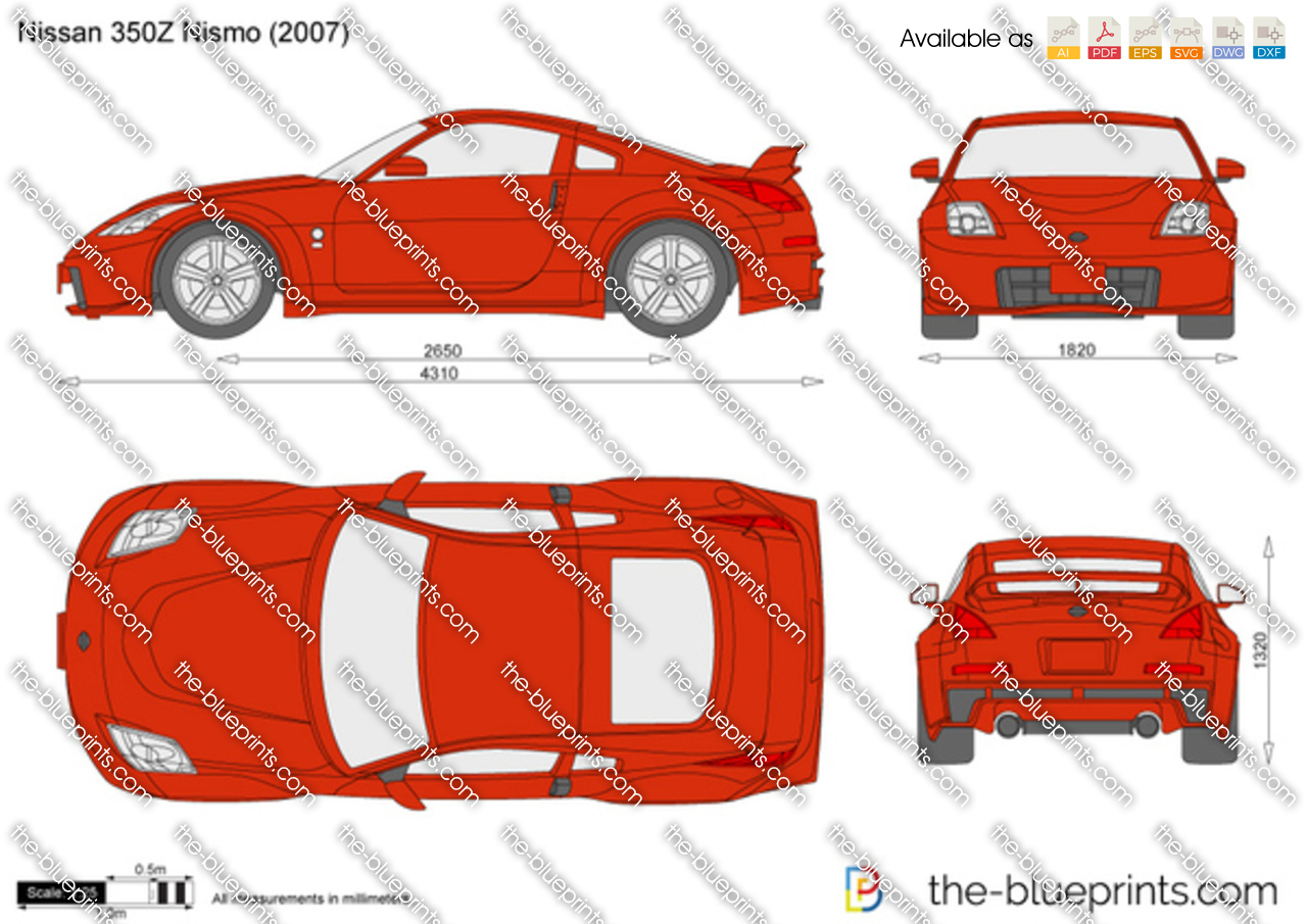 Nissan 350z Nismo Vector Drawing
